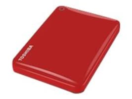 Toshiba 1TB Canvio Connect II Hard Drive - Red, HDTC810XR3A1, 18234551, Hard Drives - External