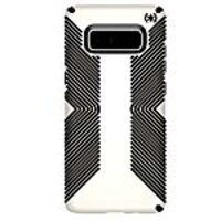 Speck Presidio Grip Case for Samsung Galaxy Note8, White Black, 103787-1909, 35053680, Carrying Cases - Phones/PDAs