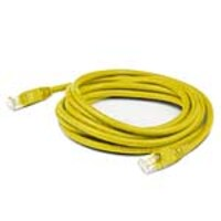 AddOn CAT6A UTP PVC Copper Patch Cable, Yellow, 0.5ft, ADD-0.5FCAT6A-YW, 36968267, Cables