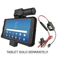 Ram Mounts Locking Powered Vehicale Cradle w  Combination Lock for Samsung Galaxy Tab Active2 w  Hardwire, RAM-HOL-SAM7PCL-HARU, 35181059, Battery Chargers