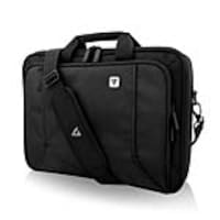 V7 16 Professional Front Loading Laptop Briefcase, Black, CCP16-BLK-9N, 35182828, Carrying Cases - Notebook