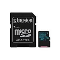 Kingston 128GB Canvas Go MicroSDXC UHS-I U3 Flash Memory Card with SD Adapter, Bulk Pack, SDCG2/128GBCA, 35735120, Memory - Flash