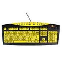 Ergoguys AbleNet Keys-U-See Large Print Wired Keyboard, Yellow Keys Black Print, 10090103, 35235686, Keyboards & Keypads