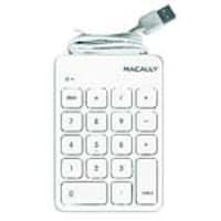 Macally 18-Key Numeric USB Keypad, White, NUMKEY, 35257720, Keyboards & Keypads