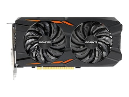 Gigabyte Tech GeForce GTX 1050 Ti Windforce PCIe 3.0 x16 Overclocked Graphics Card, 4GB GDDR5, GV-N105TWF2OC-4GD, 32980470, Graphics/Video Accelerators