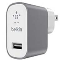Belkin MixIt Metallic Home Charger, Gray, F8M731DQGRY-TM, 35544518, AC Power Adapters (external)