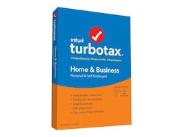 Intuit Turbotax Home and Business 2019 (State) DVD, 607333, 37871352, Software - Tax & Legal