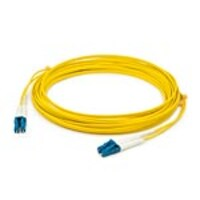 Add On LC-LC 9 125 OS2 Singlemode Duplex Fiber Cable, Yellow, 0.3m, ADD-LC-LC-0.3M9SMF, 35625191, Cables