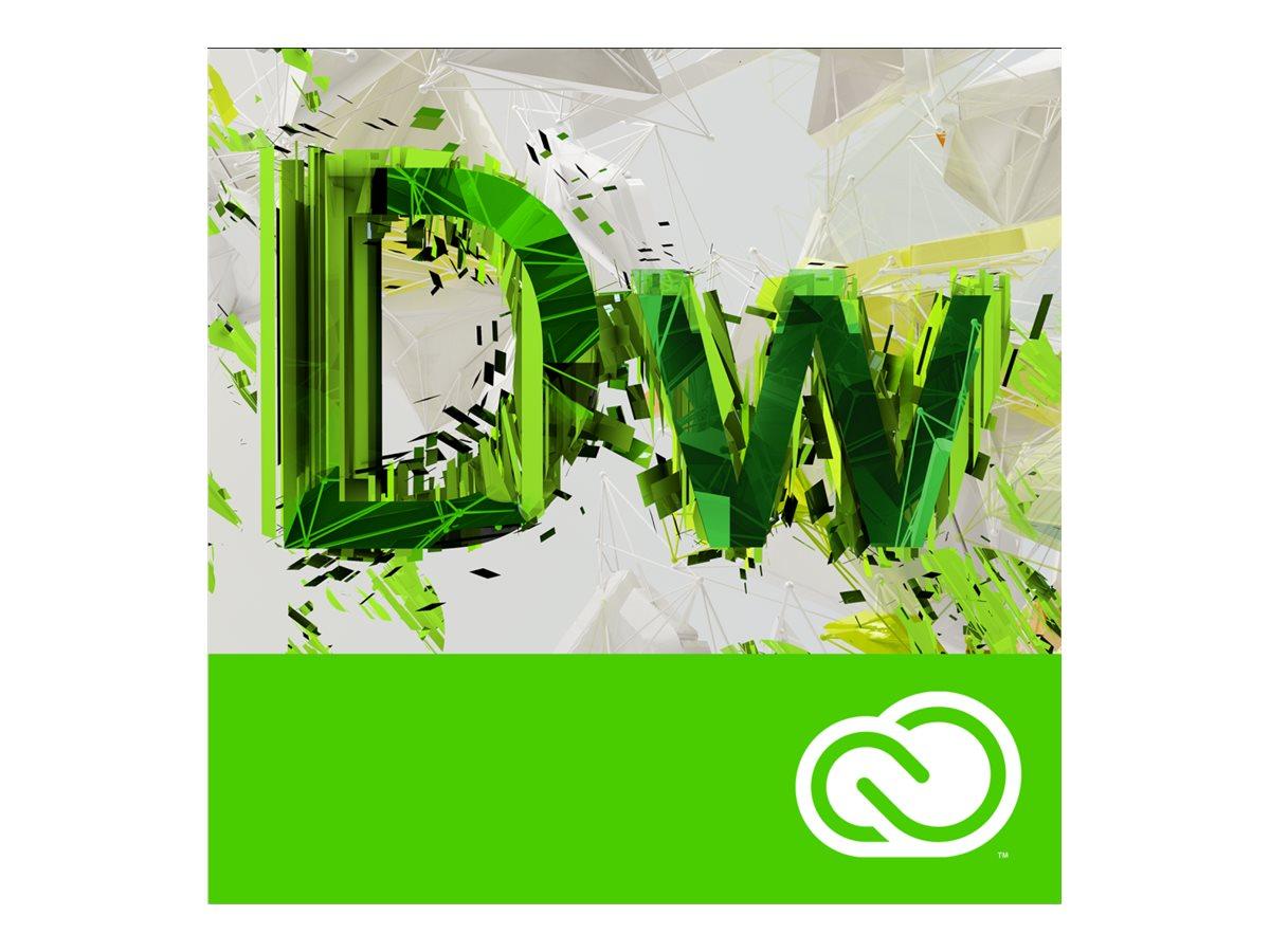 Adobe Corp. VIP Dreamweaver CC MultiPlat Lic Sub 1 User Level 1 1-9 12 mo., 65270367BA01A12, 31709320, Software - Programming Tools