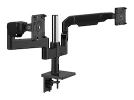 Humanscale MFlex M8.1 with Dual Monitor Support, Clamp Mount, Black, X8BCMBETBETB12, 36887504, Stands & Mounts - Desktop Monitors