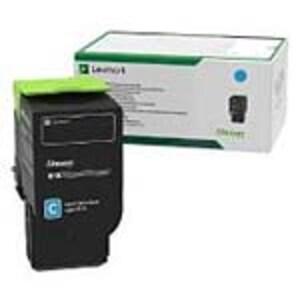 Lexmark Cyan Return Program Toner Cartridge for CS421dn, CS521dn, CS622de, CX421adn, CX522ade, CX622ade, 78C10C0, 35877435, Toner and Imaging Components - OEM