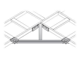 Black Box Ladder Rack Corner Support Bracket Kit, RM693, 12452477, Rack Cable Management