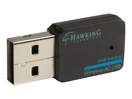 Hawking Wireless AC USB Network Adapter, HW7ACU, 18340151, Wireless Adapters & NICs