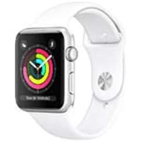 Apple Watch Series 3 GPS, 38mm Silver Aluminum Case, White Sport Band, MTEY2LL/A, 36142035, Wearable Technology - Apple