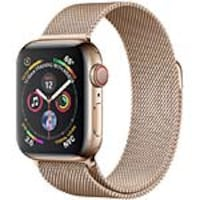 Apple Watch Series 4 GPS+Cellular, 40mm Gold Stainless Steel Case with Gold Milanese Loop, MTUT2LL/A, 36143581, Wearable Technology - Apple