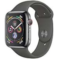 Apple Watch Series 4 GPS+Cellular, 44mm Space Black Stainless Steel Case with Black Sport Band, MTV52LL/A, 36143679, Wearable Technology - Apple