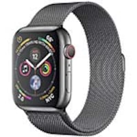 Apple Watch Series 4 GPS+Cellular, 44mm Space Black Stainless Steel Case with Space Black Milanese, MTV62LL/A, 36143687, Wearable Technology - Apple