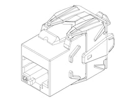 Black Box CAT6 Tooless Jack, Universal Shielded, FMS300-R2, 36311564, Cable Accessories
