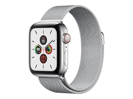 Apple Watch Series 5 GPS+Cellular, 40mm Stainless Steel Case with Stainless Steel Milanese Loop, MWWT2LL/A, 37523622, Wearable Technology - Apple Watch Series 4-5