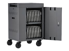 Bretford Manufacturing 20-Unit CUBE Cart Mini Charging Cart AC, Charcoal, TVCM20PAC-CK, 34222023, Computer Carts