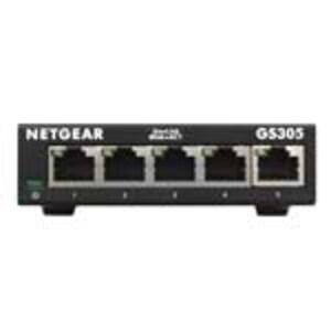 Netgear NETEGEAR 5-PORT GIGABIT ETHERNET UNMANAGED SWITCH (GS305), GS305-300PAS, 37077132, Network Switches