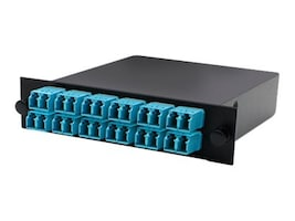 Add On Cassette For 3-Bay 1 Unit Panel w 2MPO IN 12LC DUPLEX OUT MMF OM3, ADD-3BAYC2MP12LCDM3, 33519116, Patch Panels