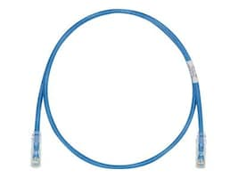 Panduit CAT6 UTP Patch Cable with TX6 Plugs, Blue, 12ft, UTPSP12BUY, 22999978, Cables
