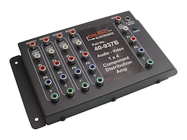 Calrad 1x4 Component Stereo Audio Video Distribution Amplifier, 40-937B, 32428933, Video Extenders & Splitters