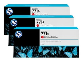 HP 771A 775-ml Chromatic Red Designjet Ink Cartridges (3-pack), B6Y40A, 15709231, Ink Cartridges & Ink Refill Kits - OEM