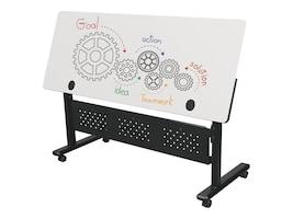 Balt 72w x 24d x 28.5-45h Dry Erase Top Adjustable Height Flipper Table - Rectangle, 90317-MRKR-BK, 35714863, Furniture - Miscellaneous