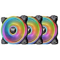 Thermaltake Riing Quad 12 RGB Radiator Fan TT Premium Edition, Black (3-pack), CL-F088-PL12SW-B, 38066654, Cooling Systems/Fans