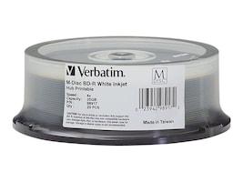 Verbatim BDR 25GB 4X Wht Inkjt 25pk, 98917, 25875356, Blu-Ray Media