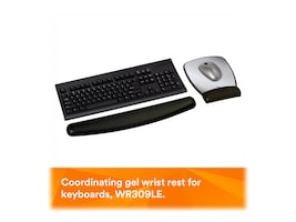 3M Gel Mouse Pad Wrist Rest, Leatherette with Precise Battery Saving Mousing Surface, MW309LE, 8463456, Ergonomic Products
