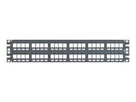 Panduit NetKey Flush Mount Modular Patch Panel - patch panel - 2U, NKPP48FMY, 9815855, Patch Panels
