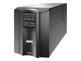 APC Smart-UPS 1500VA 980W 120V LCD Tower UPS (8) 5-15R Outlets USB Serial, SMT1500, 10334485, Battery Backup/UPS
