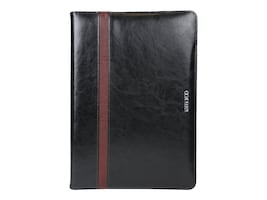 Cyber Acoustics Leather Folio for Surface Pro 3 & 4 Maroo, Black, MR-MS3448, 30785793, Carrying Cases - Tablets & eReaders