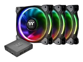 Thermaltake Ring Plus 12 LED RGB Radiator Fan, CL-F053-PL12SW-A, 33706721, Cooling Systems/Fans