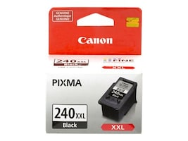 Canon Black PG-240XXL Double Extra Large Ink Cartridge, 5204B001, 13365762, Ink Cartridges & Ink Refill Kits