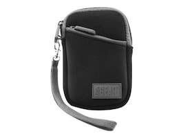 Accessory Genie Compact Digital Camera Carrying Case w  Neoprene Cushion, Belt Loop, Wrist Strap, GRFAGLV100BKEW, 31385214, Carrying Cases - Camera/Camcorder