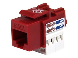 StarTech.com 110 Punch Type Cat6 Keystone Jack Red, C6KEY110RD, 5942638, Premise Wiring Equipment