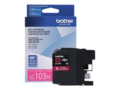 Brother Magenta LC103M Innobella High Yield (XL Series) Ink Cartridge for the MFC-J4510DW, LC103M, 14714872, Ink Cartridges & Ink Refill Kits - OEM