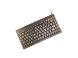 Unitech 88 89 Key Mini Keyboard Black Windows Keys, PS 2, K595-BPS2, 6242246, Keyboards & Keypads