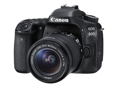 Canon EOS 80D DSLR Camera with 18-55mm IS STM Lens, 1263C005, 33986911, Cameras - Digital