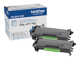 Brother Black TN850 High Yield Toner Cartridges (2-pack), TN8502PK, 38002685, Toner and Imaging Components - OEM