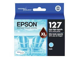 Epson Cyan DURABrite Ultra Sensormatic Extra High Capacity Ink Cartridge for WorkForce 630, 633 & 635, T127220-S, 11497201, Ink Cartridges & Ink Refill Kits - OEM