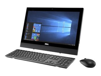 Dell OptiPlex 3050 AIO Core i3-7100T 3.4GHz 4GB 500GB HD630 DVD+RW ac BT WC 19.5 HD+ W10P64, WMKHT, 36152541, Desktops - All-in-One