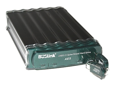 Buslink Media 10TB FIPS 140-2 256-Bit AES USB 3.0 eSATA Encrypted External Hard Drive, CSE-10T-SU3, 32431534, Hard Drives - External