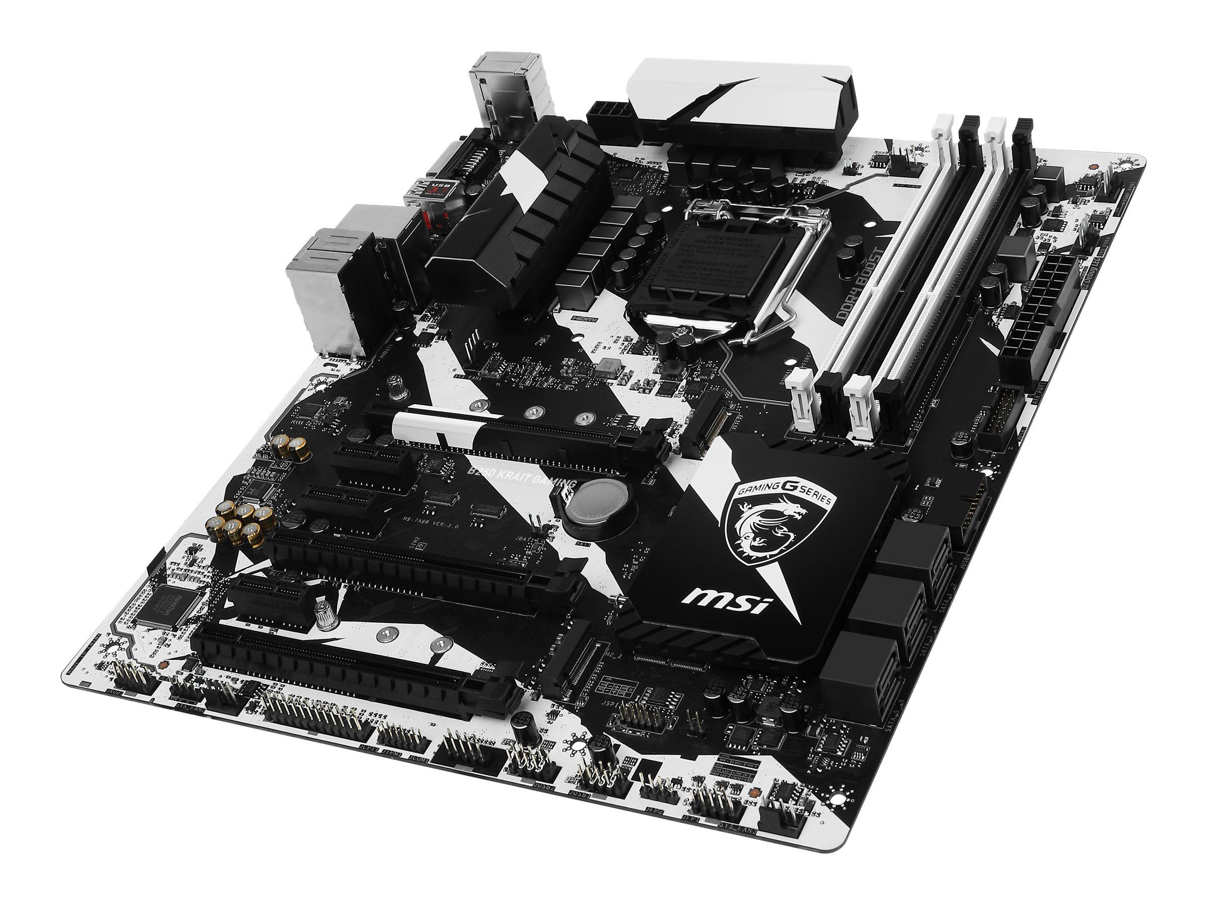 Microstar Motherboard, B250 Krait Gaming, B250 KRAIT GAMING, 33561381, Motherboards