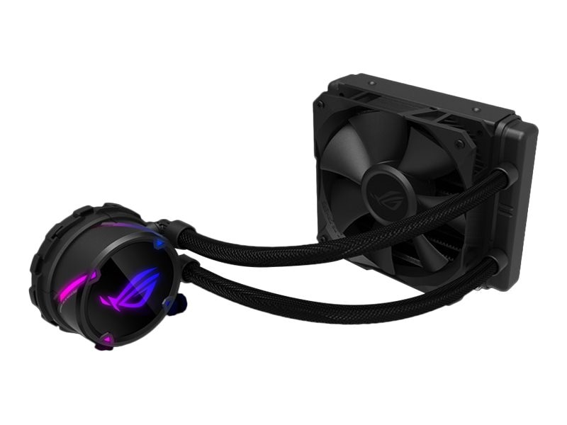 Asus All-in-one liquid CPU cooler with Aura Sync RGB and ROG 120mm radiator  fan