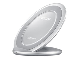 Samsung Fast Charge Wireless Charging Stand, Silver, EP-NG930TSUGUS, 33965802, Battery Chargers